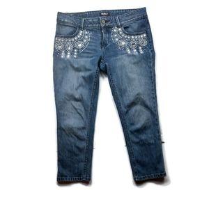 Embellished Crop Jeans By Allen B. Schwartz